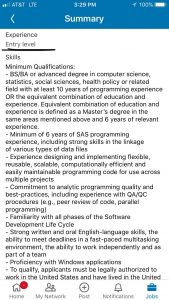 Entry-Level job, requiring BS, BA, or advanced degree in computer science… ans 10 years experience.